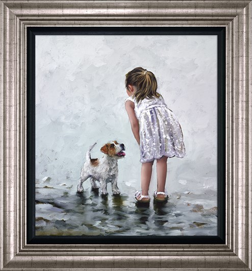 Puppy Love by Keith Proctor - Framed Limited Edition on Canvas