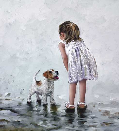 Puppy Love by Keith Proctor - Limited Edition on Canvas